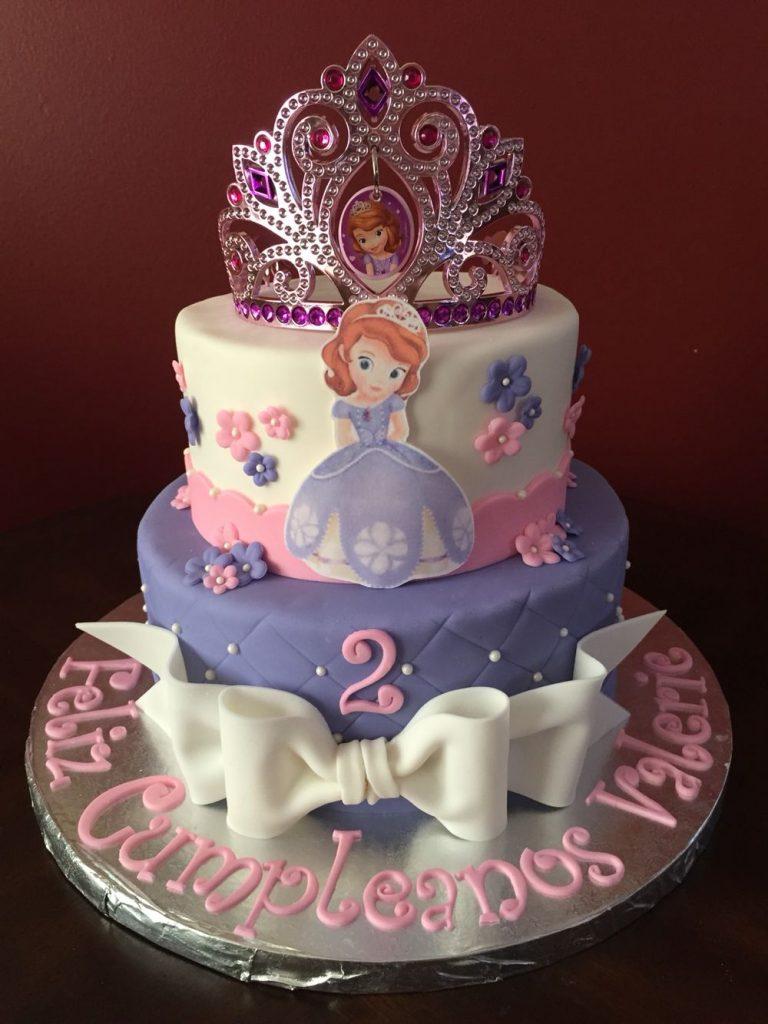 bolo princesa sofia 2 andares