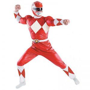 Fantasia Power Rangers Vermelho