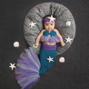 Fantasia de sereia infantil
