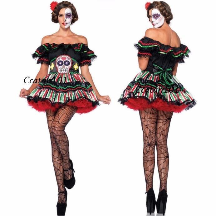 Resultado de imagem para fantasia caveira mexicana feminina