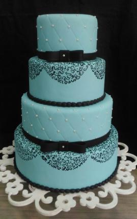 bolo azul tiffany