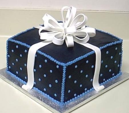 bolo azul marinho