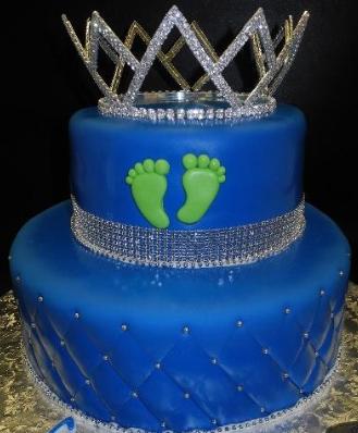 Bolo azul royal