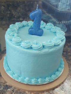 bolo azul simples