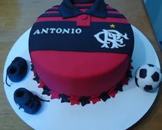 bolo do flamengo redondo