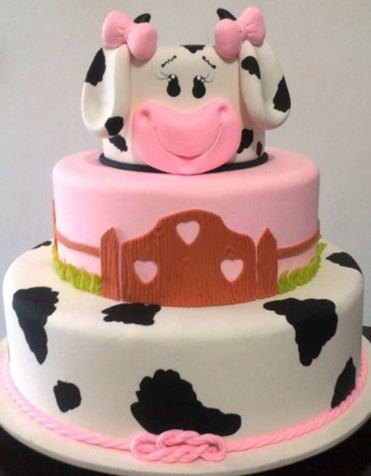 bolo fazendinha rosa
