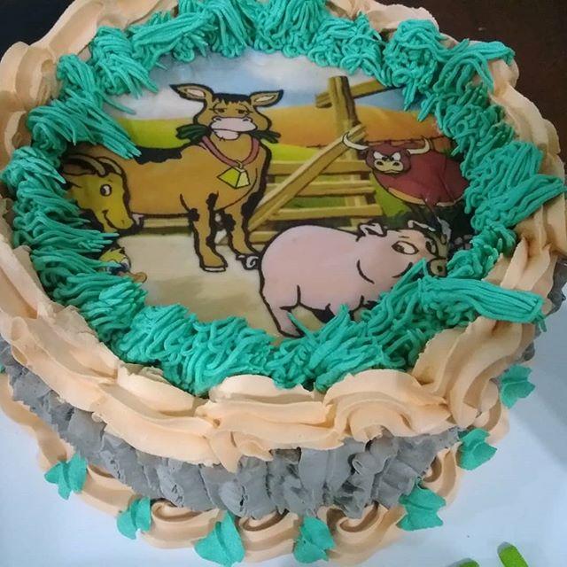 bolo fazendinha papel arroz