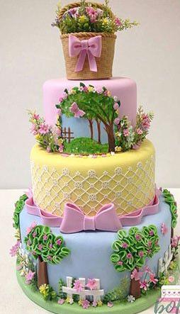 bolo fake jardim encantado em eva