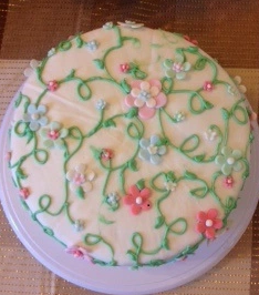 bolo jardim encantado simples