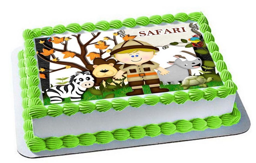 bolo safari papel arroz