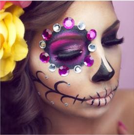 Como fazer maquiagem de caveira mexicana