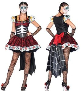 Fantasia de Caveira Mexicana feminina