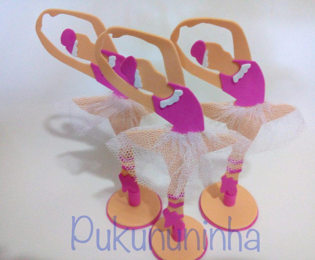 lembrancinhas de bailarinas em EVA
