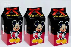 Lembrancinhas do mickey com lata de leite