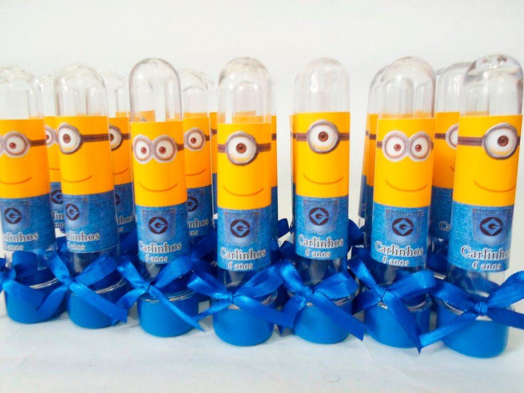 Lembrancinhas dos minions de aniversário