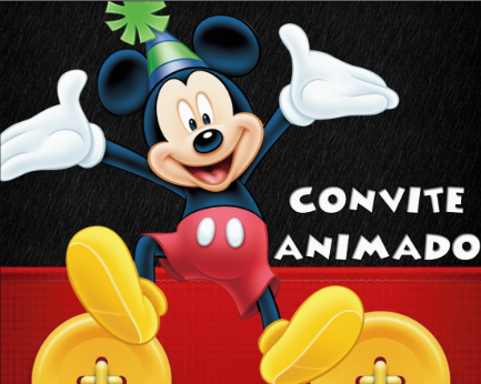 Convite animado do mickey