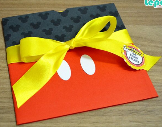 Envelope convite mickey