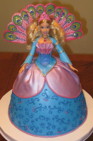 bolo da barbie princesa