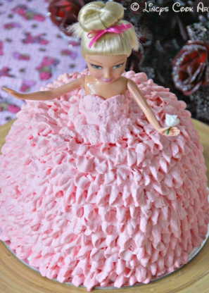 bolo da barbie chantilly