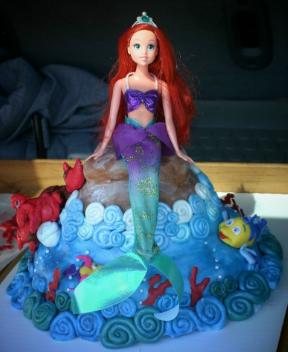 bolo da barbie sereia