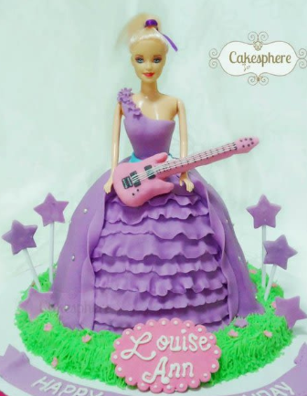 bolo da barbie pop star
