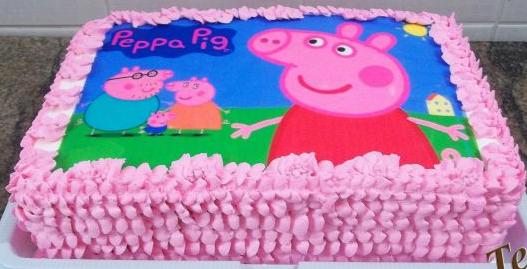 bolo da peppa pig papel arroz