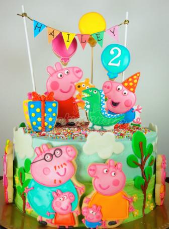 bolo familia peppa pig