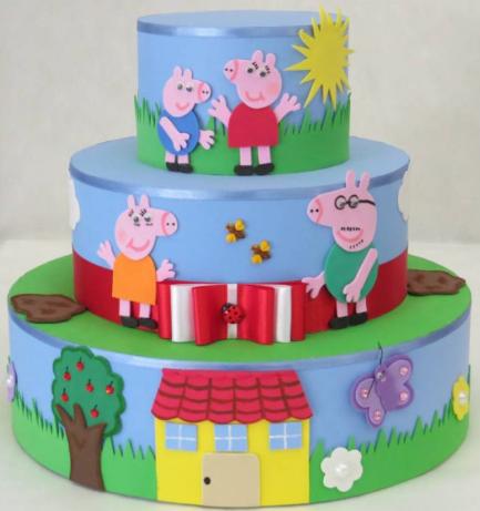 fake cake peppa pig
