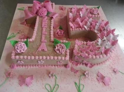 bolo de 15 anos com flores