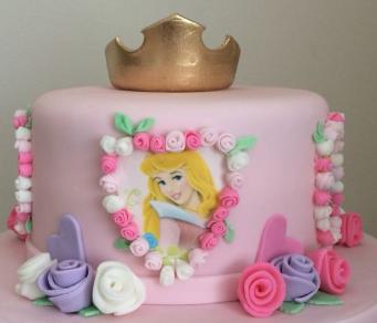 bolo princesa aurora