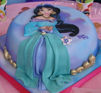 bolo princesa jasmine