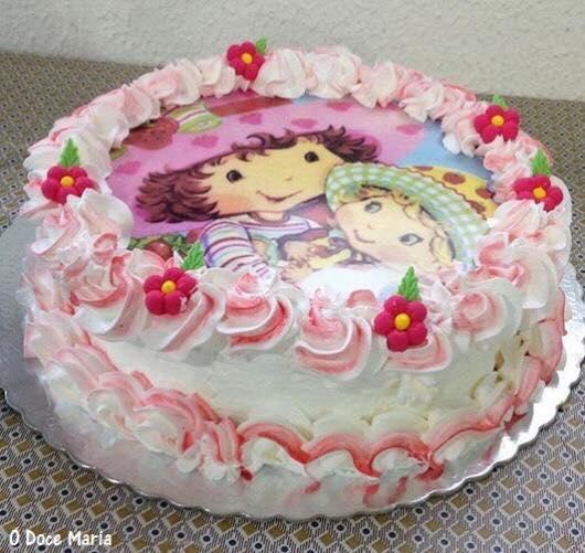 bolo da moranguinho com papel arroz