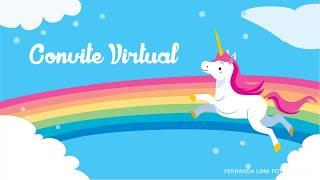 Convite de unicórnio virtual