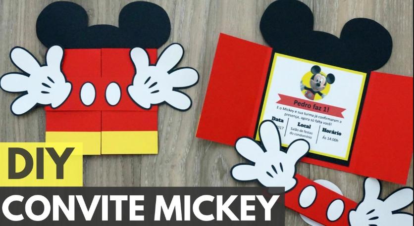 Convite do mickey em eva