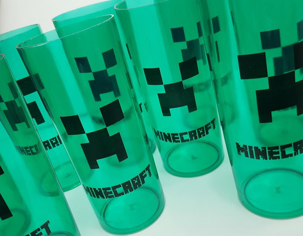 lembrancinha minecraft copo