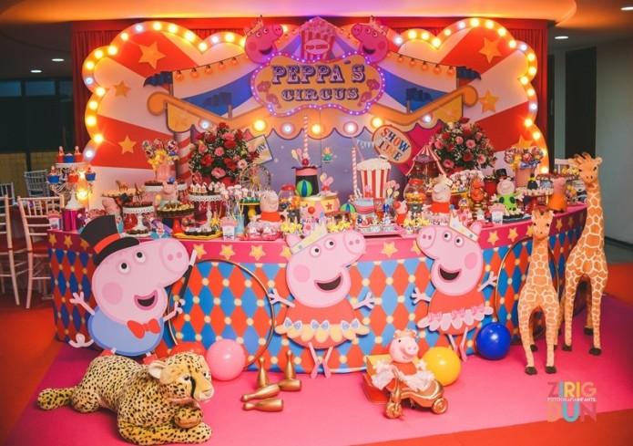festa da peppa pig bailarina