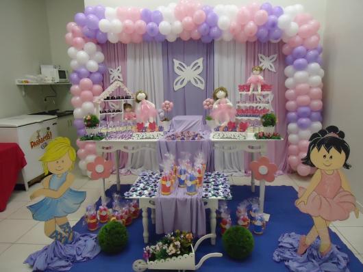 festa bailarina infantil rosa e lilás