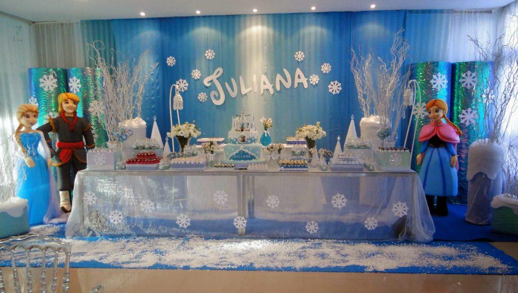 decoração festa frozen uma aventura congelante