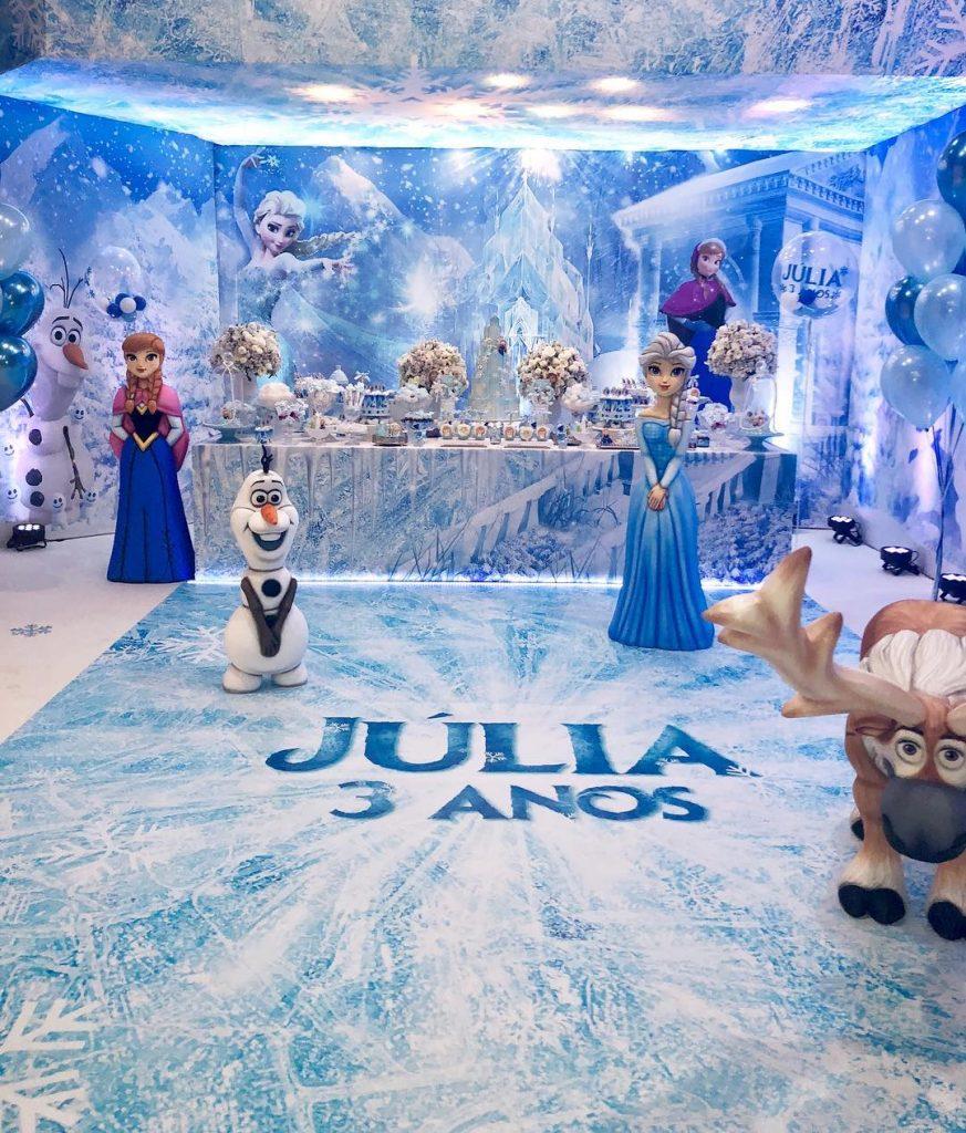 festa frozen luxo