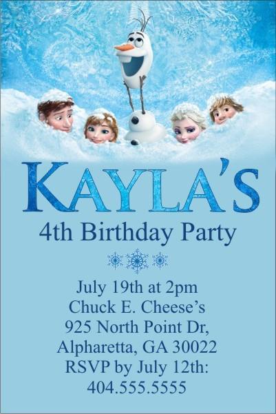 convites festa da frozen