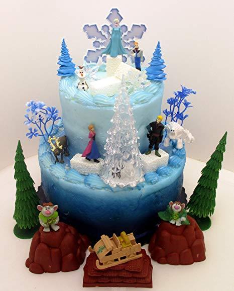 bolo decorado festa da frozen