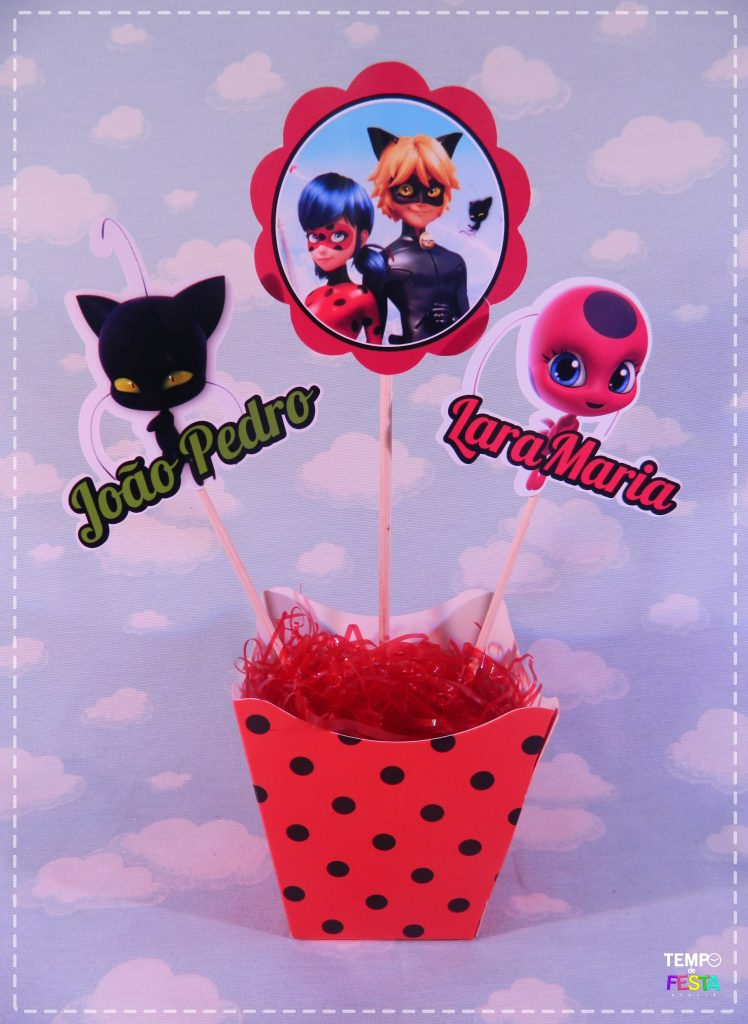 centro de mesa festa ladybug