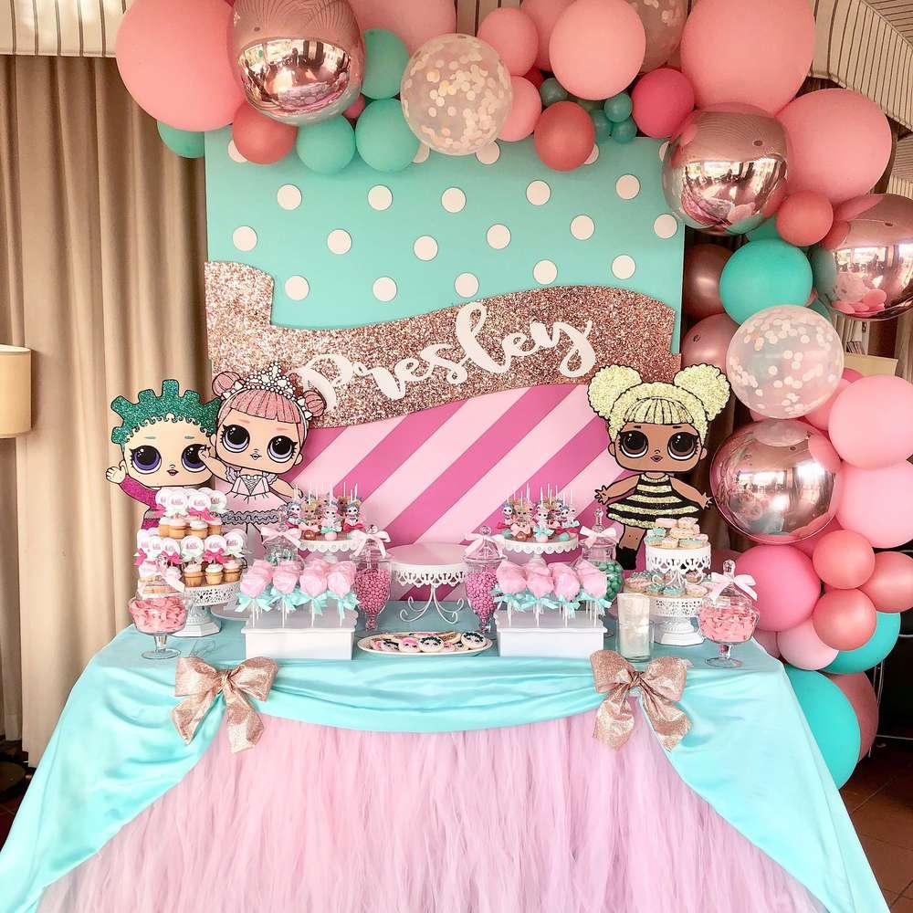 decoração de festa da lol