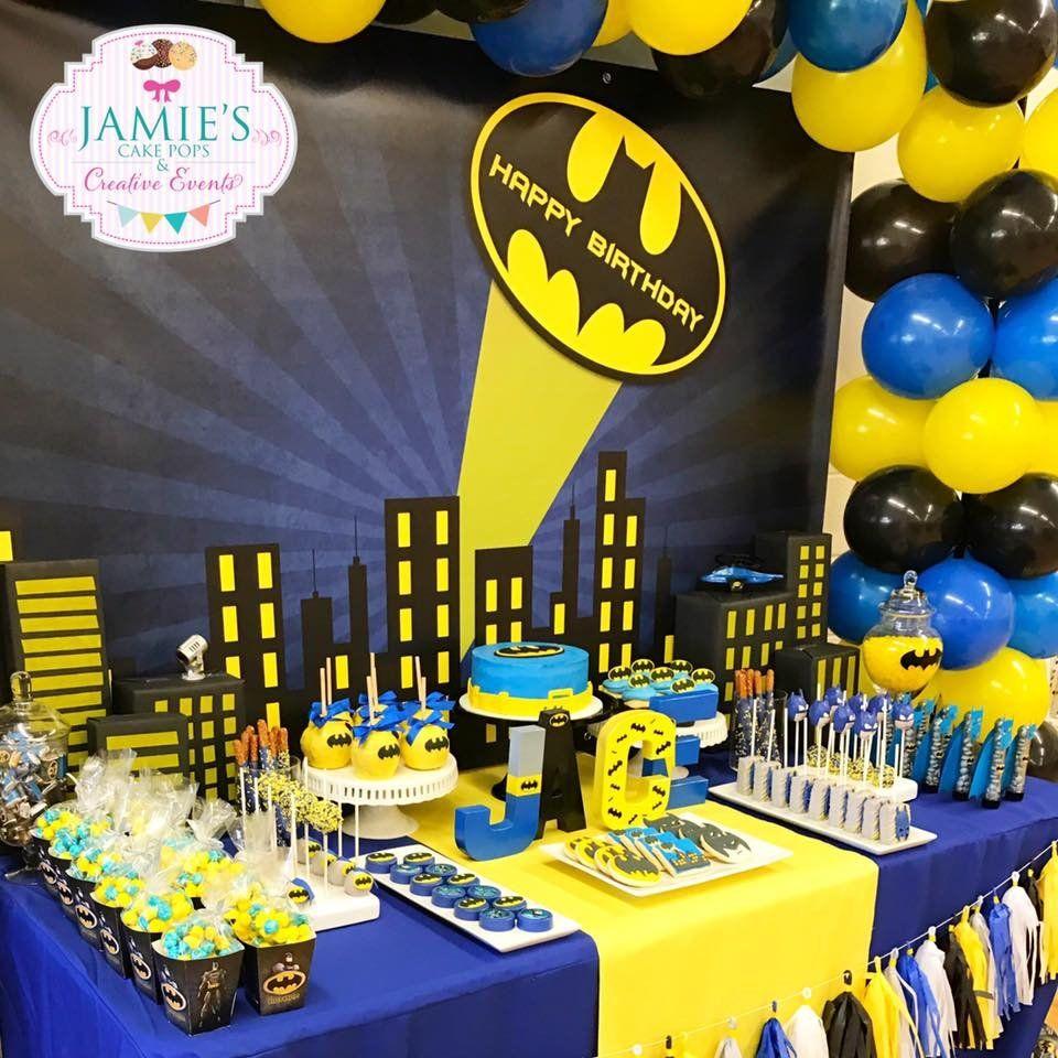 decoração de festa do batman