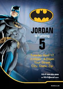 convite festa batman