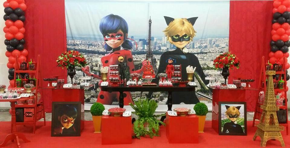 festa ladybug e cat noir