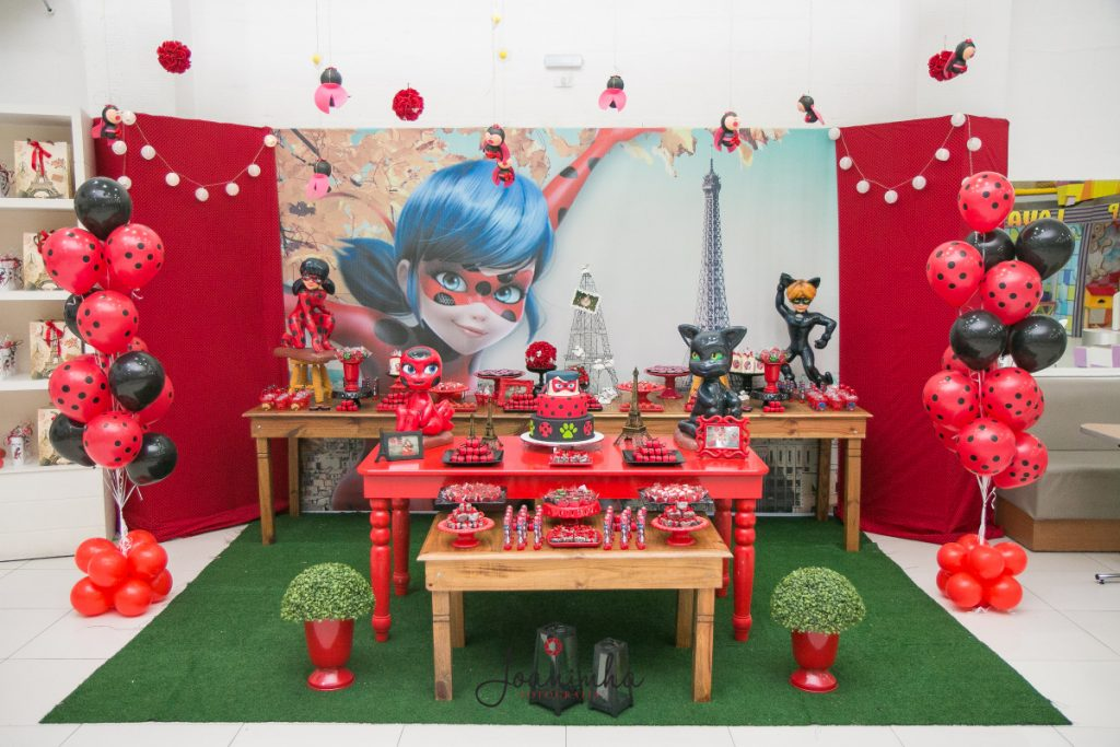 mesa de festa da ladybug