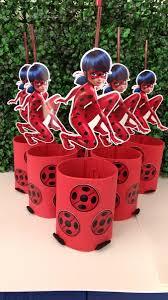 centro de mesa de festa ladybug
