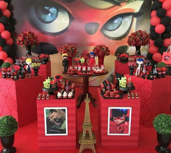 mesa de doces festa ladybug