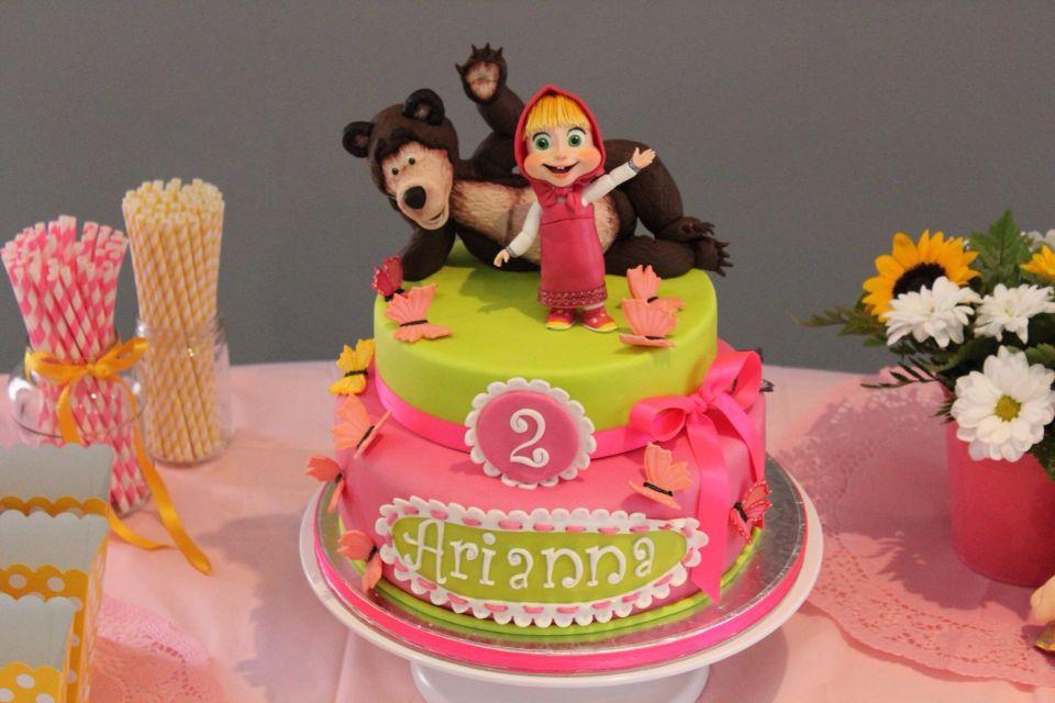 bolo festa marsha e urso